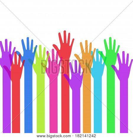 A lot of hands. Creative teamwork concept