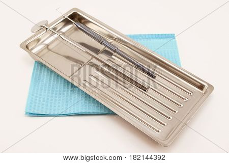 Dental tools and accessory for teeth care. Isolated on white background.