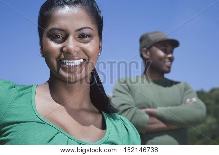 Multi-ethnic couple outdoors