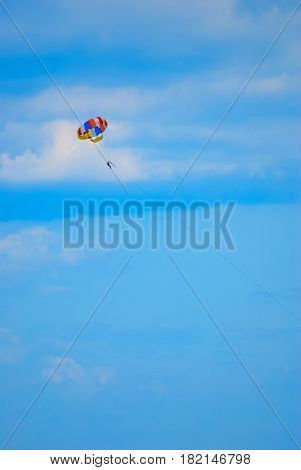 Human On A Parachute