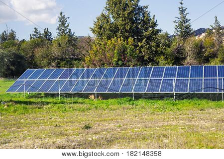 Solar panel produces green, environmentally friendly energy from the sun