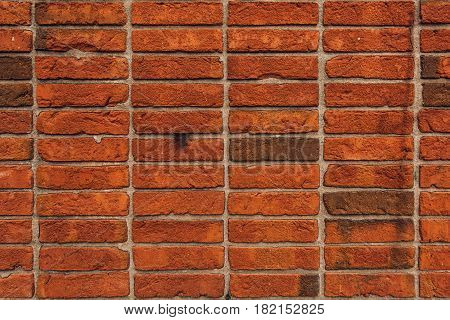 Unique brick wall texture stacking method for bricklaying in building and construction industry