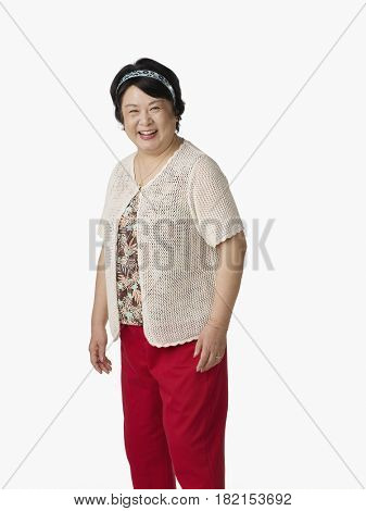 Confident Asian woman smiling