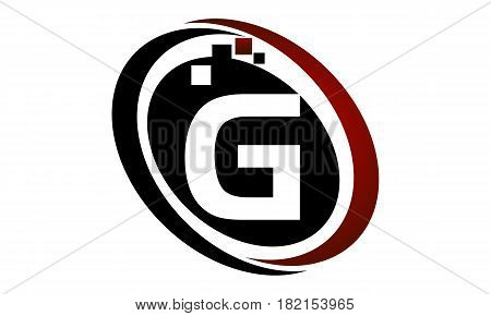 This vector describe about Technology Logo Motion Synergy Initial G