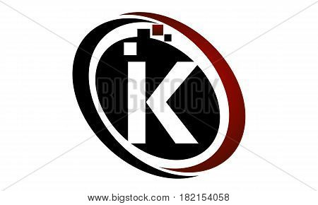 This vector describe about Technology Logo Motion Synergy Initial K