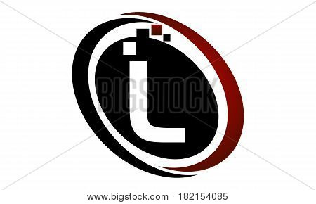 This vector describe about Technology Logo Motion Synergy Initial L