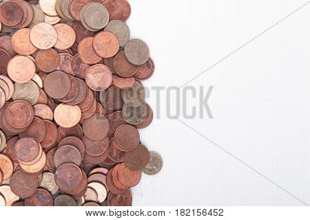 Many Of Thai Baht Coins Background