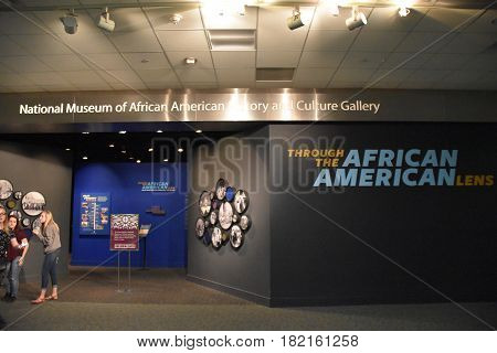 WASHINGTON, DC - APR 14: Smithsonian National Museum of American History in Washington, DC, as seen on April 14, 2017. It collects, preserves, and displays the heritage of the United States in areas of social, political, cultural, scientific, and military