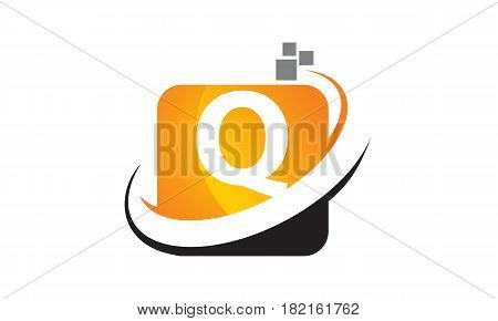 This vector describe about Technology Motion Synergy Letter Q