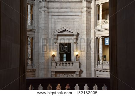 WASHINGTON, DC - APR 15: National Museum of Natural History in Washington, DC, as seen on April 15, 2017. It is administered by the Smithsonian Institution.