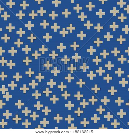 Seamless Pattern of Plus Sign, Pattern for Fabric and Wrapping Paper, Vector Illustration