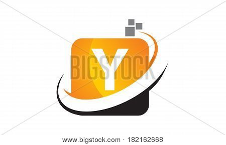 This vector describe about Technology Motion Synergy Letter Y