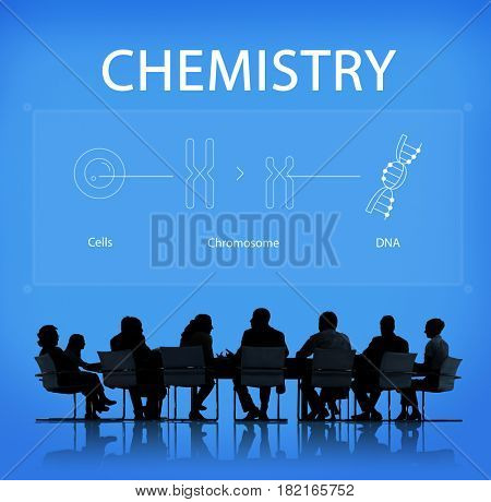 Group of people discussion biology humanity life science genetic research
