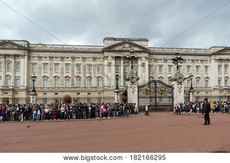 LONDON, ENGLAND - JUNE 17 2016: Buckingham Palace London, England, Great Britain