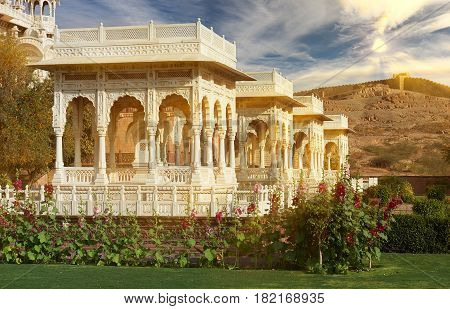 The Jaswant Thada Is A Cenotaph Located In Jodhpur, In The Indian State Of Rajasthan, India.