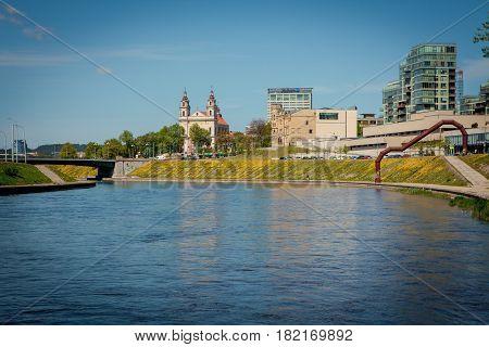 Neris River In Vilnius