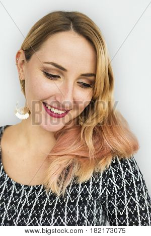 Woman Young Casual Cheeful Portrait Concept