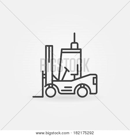 Forklift outline icon - vector symbol or logo element