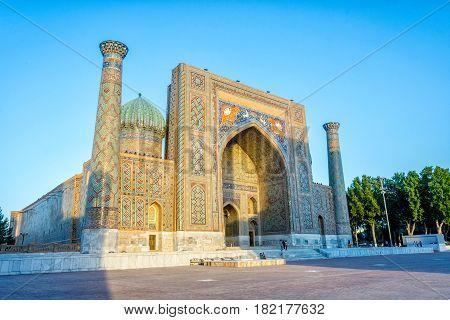 Sher-dor Madrasah, Samarkand, Uzbekistan