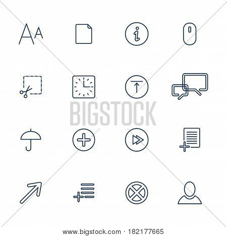 Vector Set Of 16 Linear Quality Icons