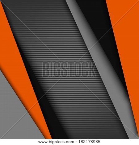 Abstract background with black gray orange design stripes vector eps 10
