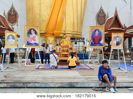 Buddhist Temple In Bangkok, Thailand