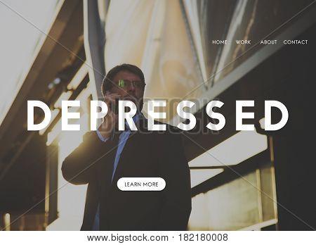 Depressed Emotion Website Homepage Webpage