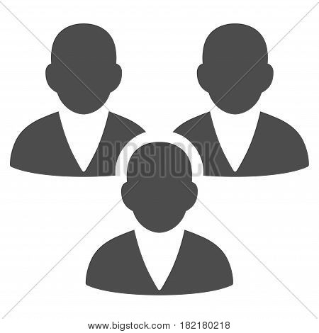 Customer Group vector pictograph. Illustration style is a flat iconic grey symbol on a white background.