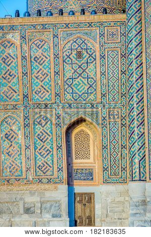 Blue Tiled Walls, Samarkand Registan, Uzbekistan