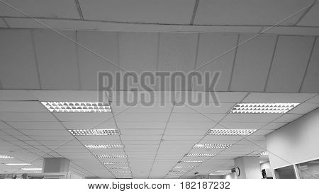 fluorescent lamp on the modern ceiling and background .
