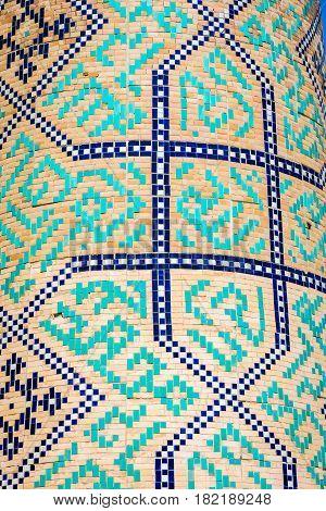 Tiles Detail, Kukeldash Madrasah, Tashkent, Uzbekistan