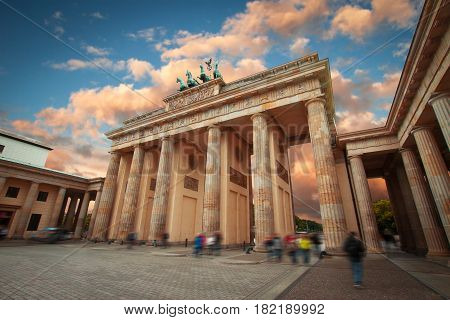 Brandenburg Gate - an architectural monument in the heart of Berlin's Mitte district.