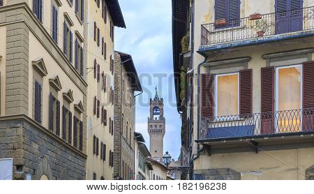 Narrow streets in Florence Italy travel bacdrop
