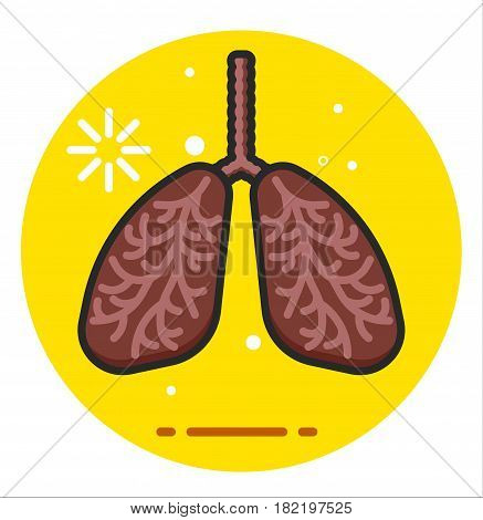 Lungs Human Smoker vector icon illustration design
