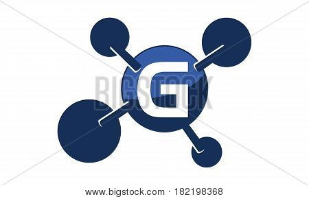 Synergy Logo connection Together Science Initial G
