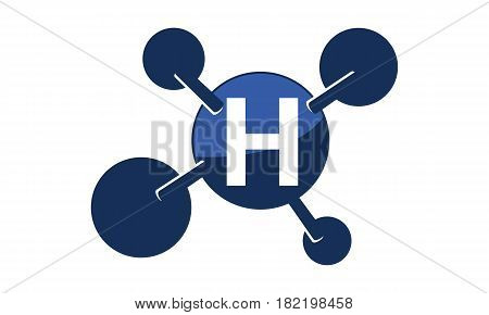 Synergy Logo connection Together Science Initial H