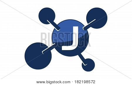Synergy Logo connection Together Science Initial J