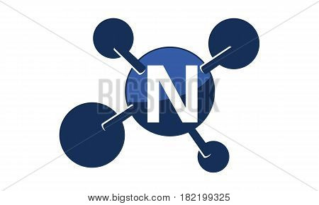 Synergy Logo Solution Group Connection Initial N
