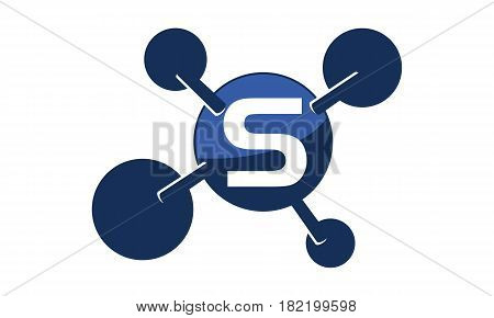 Synergy Logo Solution Group Connection Initial S