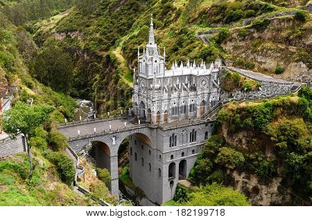 One of the most beautiful churches in the world. Sanctuary Las Lajas built in Colombia close to the Ecuador border.