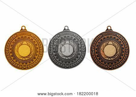 Blank templates for medals with metal texture