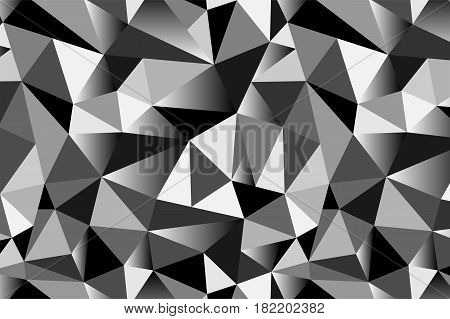 Abstract Grey Geometric Triangular Seamless Low Poly Style Background