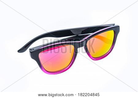 Fashion Children Sunglasses, Sun Shades Or Spectacles Isolated On White Background.
