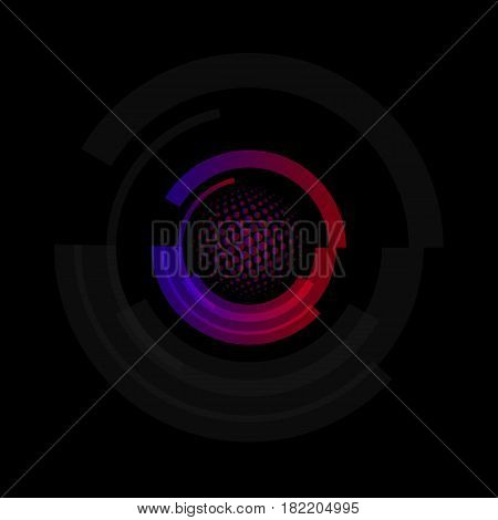 Isolated abstract colorful round shape logo, circular frames logotypes, golf balls icons on white background vector illustration.
