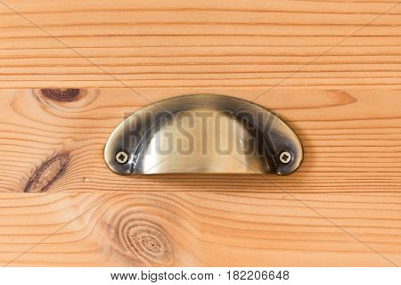 Closeup from drawer handle