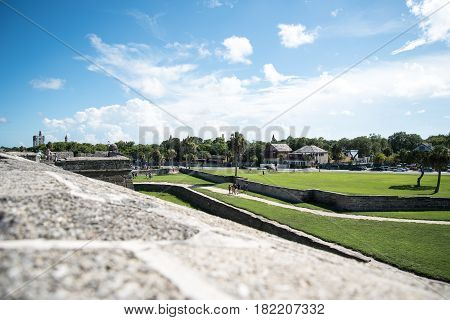 st. augustine florida landscape shot from fort