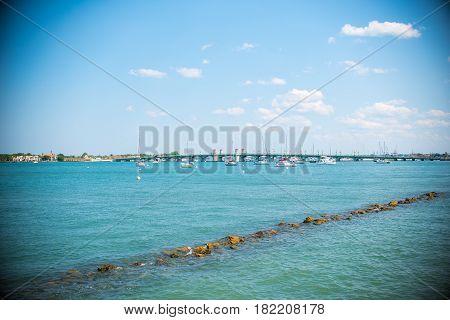 Saint Augustine Beach Landscape over atlantic ocean
