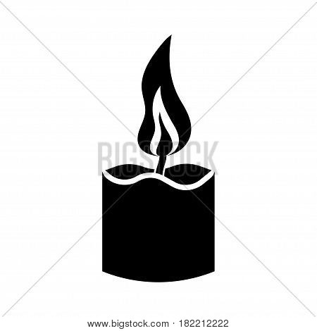 simple candle icon. on white background Vector Illustration