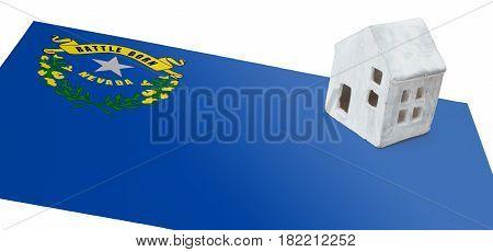 Small House On A Flag - Nevada