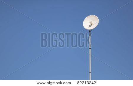 Modern outdoor wifi antenna installed to provide internet access